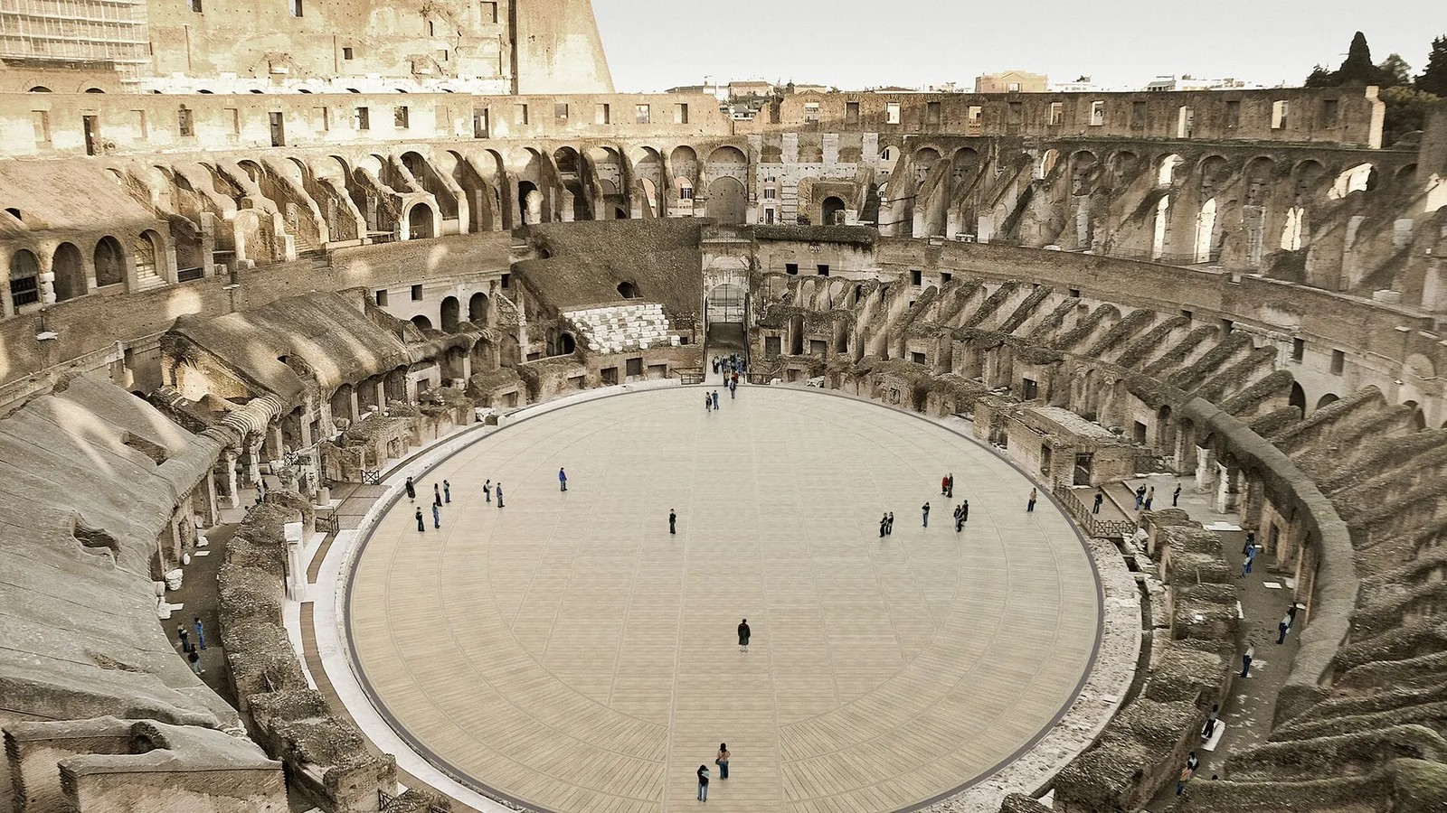 義大利羅馬鬥獸場正重建1950年前的地板